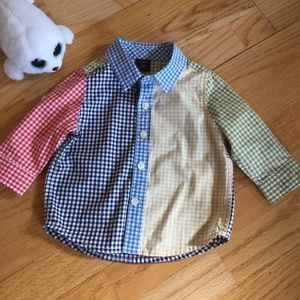EUC BabyGap Boys multicolored shirt Size 6-9 month
